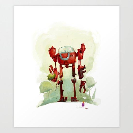 A friend Art Print