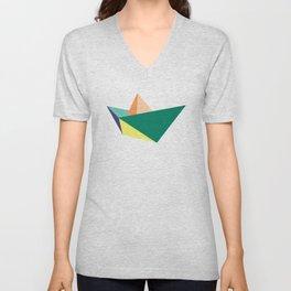 Fune, original colours on white Unisex V-Neck