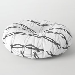 Leafy Grate Pattern Floor Pillow