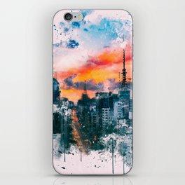 Sao Paulo - WaterColor 002C iPhone Skin