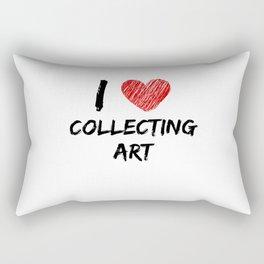 I Love Collecting Art Rectangular Pillow