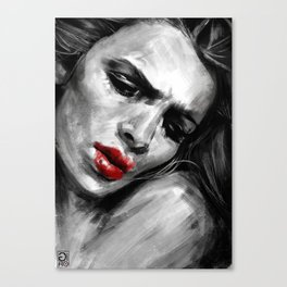 """""""Red Lips Passion"""" Canvas Print"""