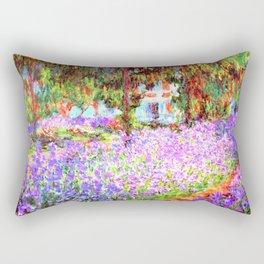 Monets Garden in Giverny Rectangular Pillow