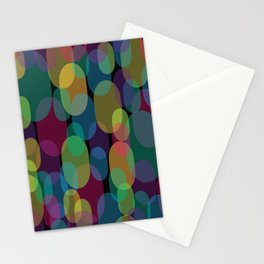 Oval Abstract Pattern Stationery Cards