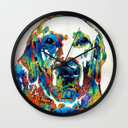 Labrador Retriever Art - Play With Me - By Sharon Cummings Wall Clock