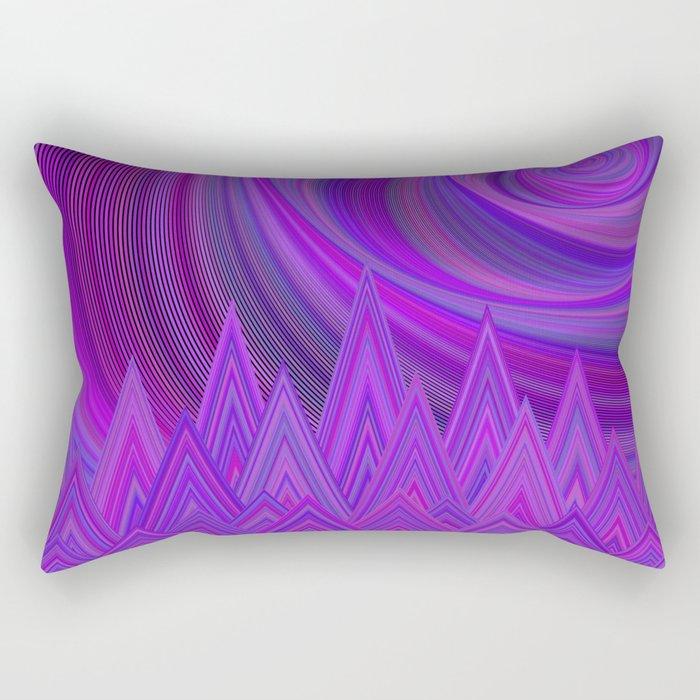 Purple mountains Rectangular Pillow