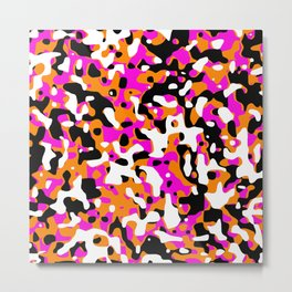 Uncovered Camouflage Neon Pink Metal Print
