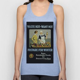 Waste Not Want Not Unisex Tank Top