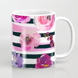 Bold Stripes and Florals Coffee Mug