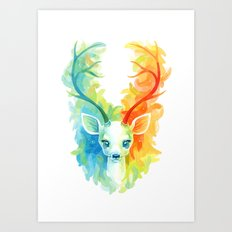 Feather Fawn Art Print