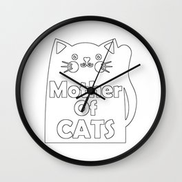 Mother Of Cats Wall Clock