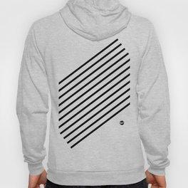 Stripes Diagonal Black White Minimal Design Hoody