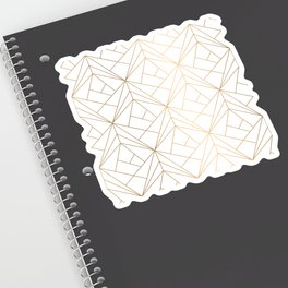 Geometric Gold Pattern With White Shimmer Sticker