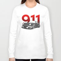 porsche Long Sleeve T-shirts featuring Porsche 911 by Vehicle