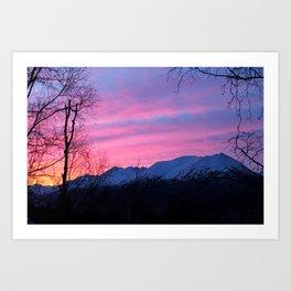 Bright Winter Sunrise Art Print