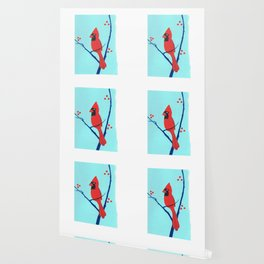 Cardinal Winter Berries Wallpaper