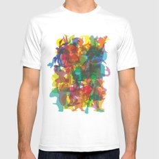 50 famous characters (solid) White Mens Fitted Tee MEDIUM