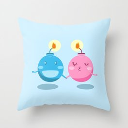 Our love is the bomb Throw Pillow