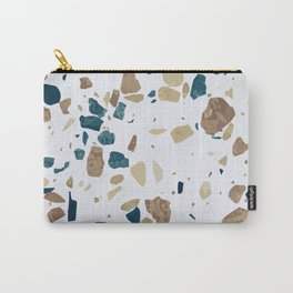 TERRAZZO ABSTRACT BLUE YELLOW ORANGE Carry-All Pouch