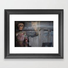 broken doll Framed Art Print