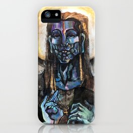 He stands at the door and knocks. iPhone Case