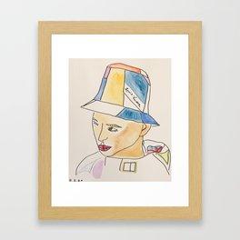 Man in Bucket Hat Framed Art Print