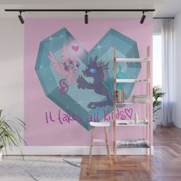 It Takes All Kinds! Flurry Heart and Thorax Wall Mural