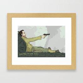 Saving Private Ryan Framed Art Print