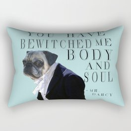 Bewitched Mr. Darcy the Pug Rectangular Pillow