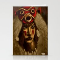 princess mononoke Stationery Cards featuring Mononoke by Debono Art