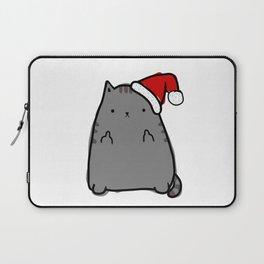 Christmas Cat Double Bird Laptop Sleeve