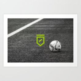 The Odder Site Football Art Print
