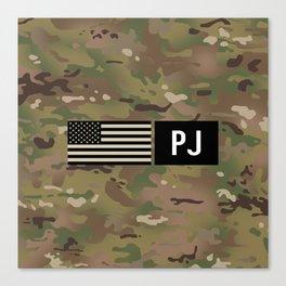 PJ (Camo) Canvas Print