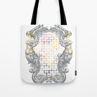 angels Tote Bags featuring Angels by FakeFred