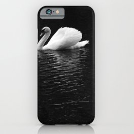 Black & White Swan In The Lake iPhone Case