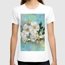 White Blooms and Yellow Roses T-shirt