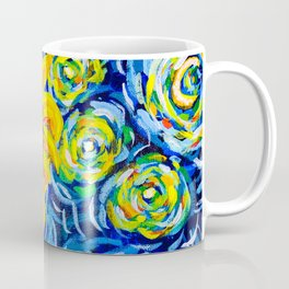 Gorgeous Blue and Yellow Van Gogh Sunflowers Coffee Mug
