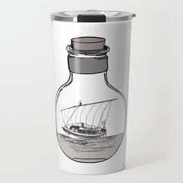 Antique Bottle and Ship Travel Mug