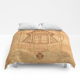 Vitruvian Tardis Comforters