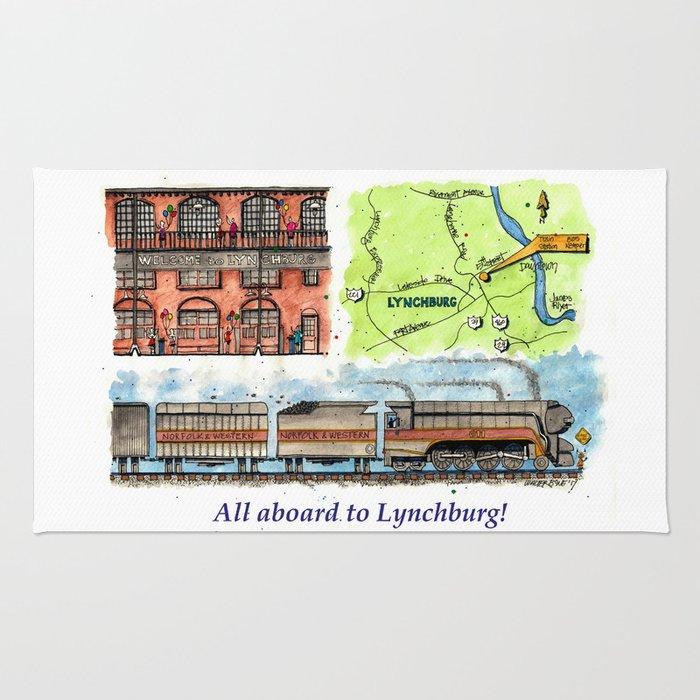 All Aboard to Lynchburg! Rug