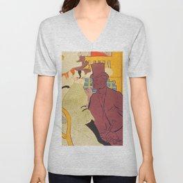 """Henri de Toulouse-Lautrec """"Flirt"""" Unisex V-Neck"""