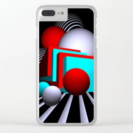liking geometry -7- Clear iPhone Case