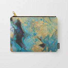 Fluid nature - Golden Sands -  Acrylic Pour Art Carry-All Pouch
