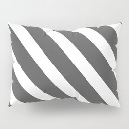 Abstract Grey Stripes Pillow Sham