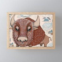 American Buffalo Bison Southwest Southwestern Framed Mini Art Print