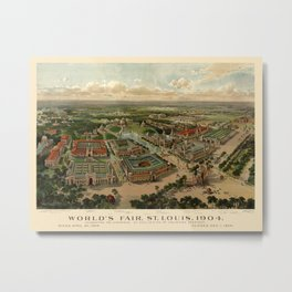 St. Louis Worlds Fair 1904 Metal Print