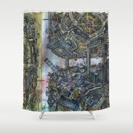 Tselinograd - Astana - Inception Shower Curtain