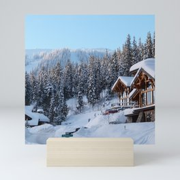 Canada Photography - Lodge In The Cold Canadian Forest Mini Art Print