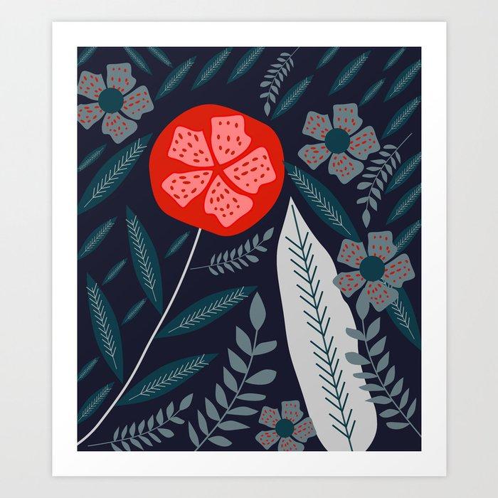 It blooms at night Art Print