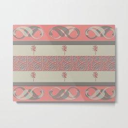 Cheery Coral Pink Metal Print